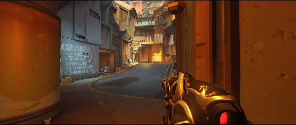 Ground level one P2 attack Widowmaker sniping spot Junkertown.jpg