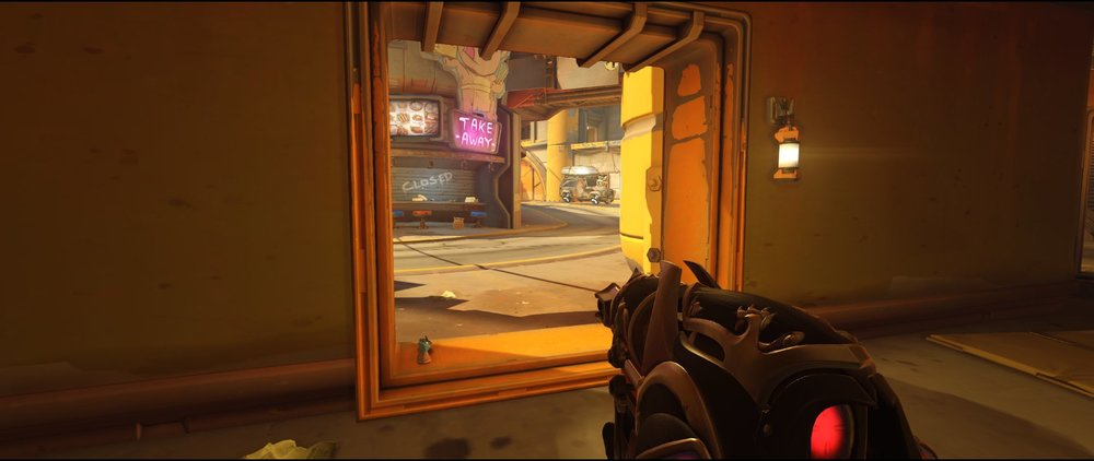 Ground level three P2 attack Widowmaker sniping spot Junkertown.jpg
