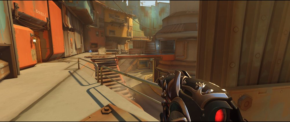 Catwalk one defense Widowmaker sniping spot Junkertown.jpg