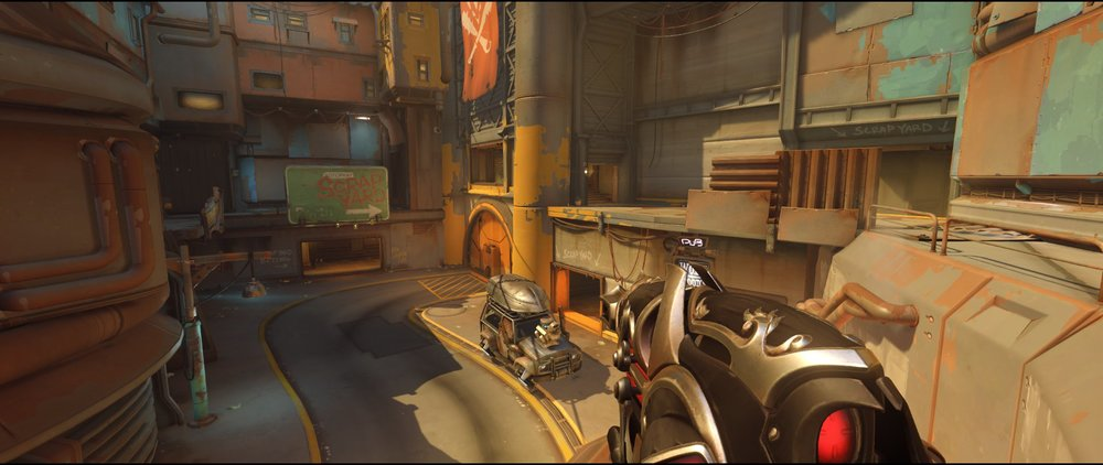 Overview high ground P2 defense Widowmaker sniping spot Junkertown
