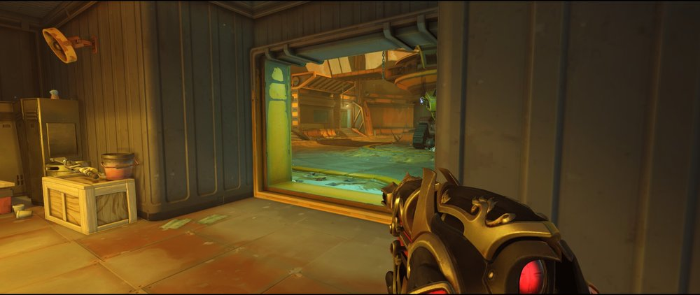 Ground level to main defense Widowmaker sniping spot Junkertown.jpg