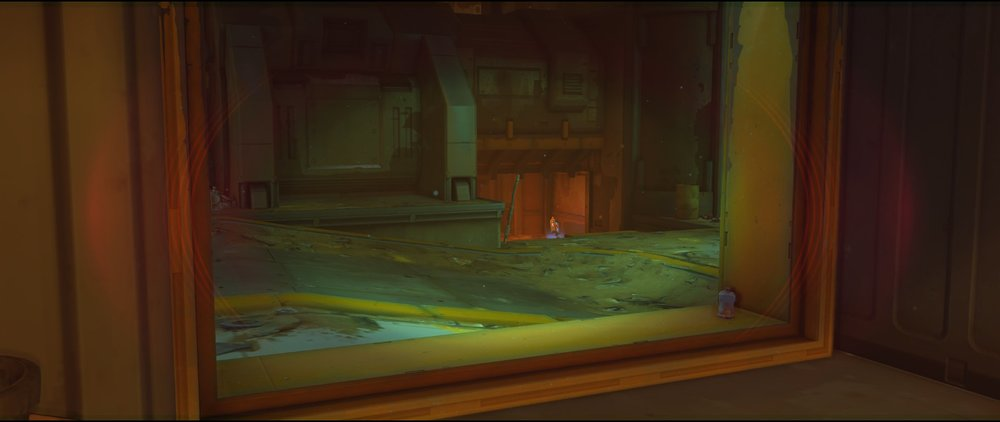 Ground level to below Platform defense Widowmaker sniping spot Junkertown.jpg