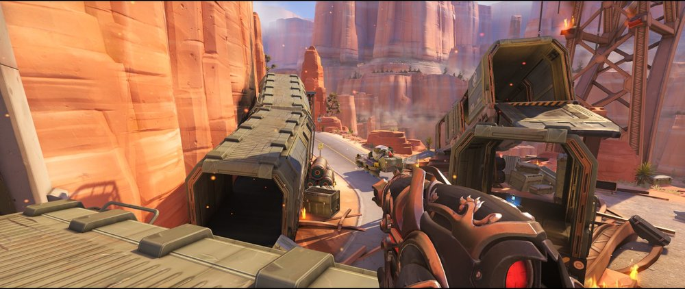 Left side wagon attack sniping spot Widowmaker Route 66.jpg