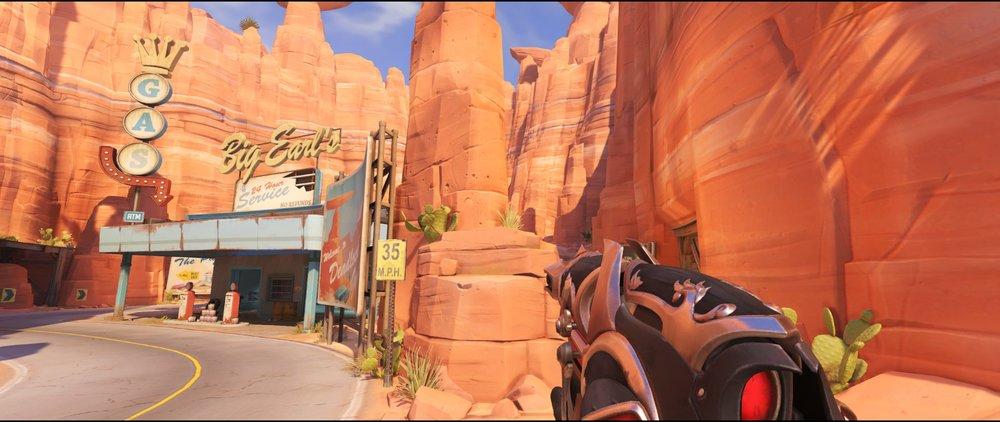 Rock pillar right side attack sniping spot Widowmaker Route 66.jpg