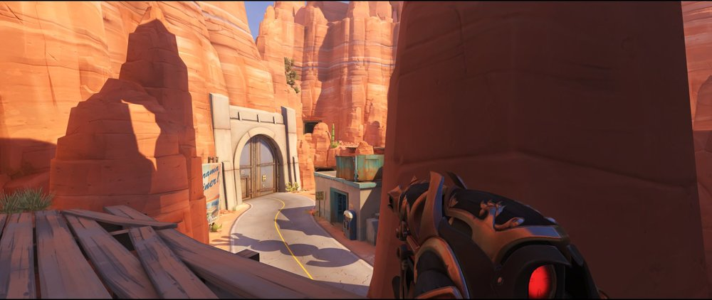 Catwalk view one attack sniping spot Widowmaker Route 66