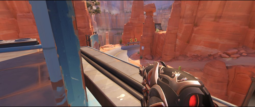 Gas side view high ground defense sniping spot Widowmaker Route 66.jpg