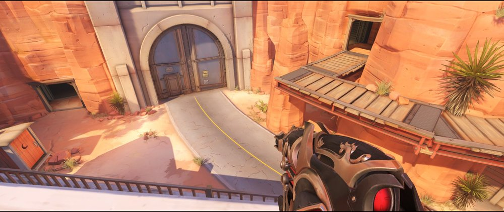 Pub rooftop attack sniping spot Widowmaker Route 66.jpg
