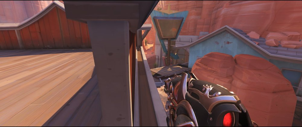 Side view pub to enemy spawn defense sniping spot Widowmaker Route 66.jpg