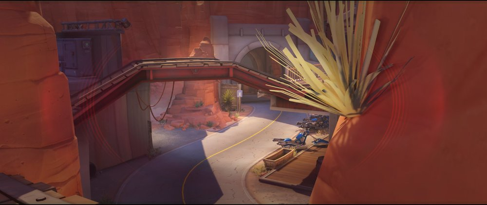 Catwalk view to mid defense sniping spot Widowmaker Route 66.jpg