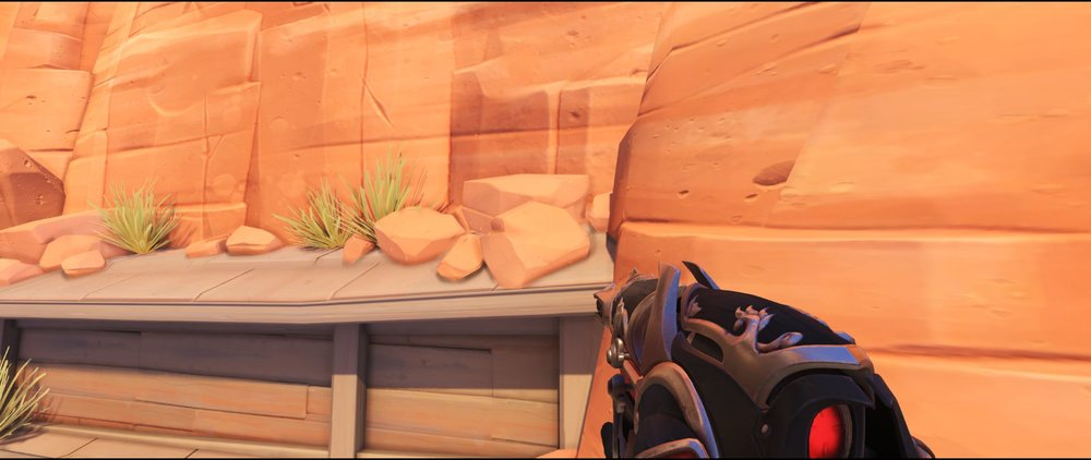 Small roof on catwalk defense sniping spot Widowmaker Route 66.jpg