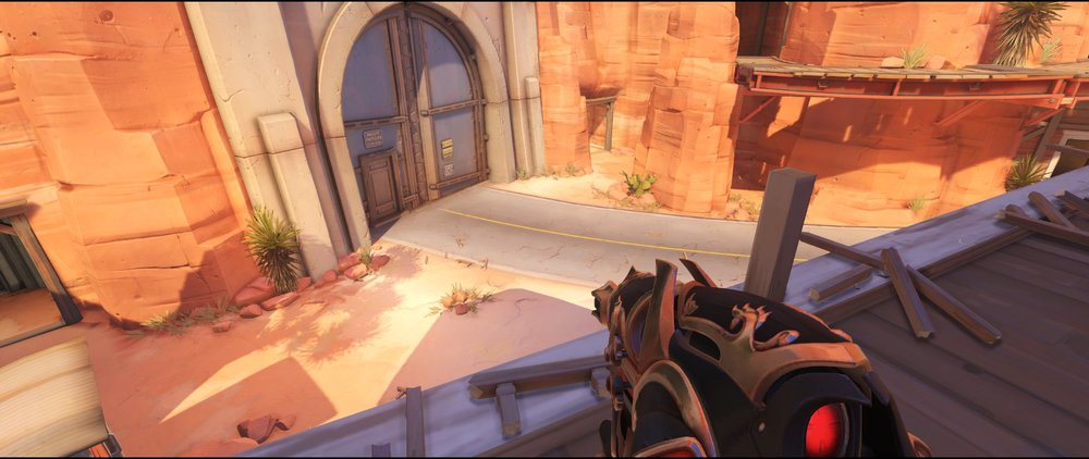 Pub first floor view defense sniping spot Widowmaker Route 66