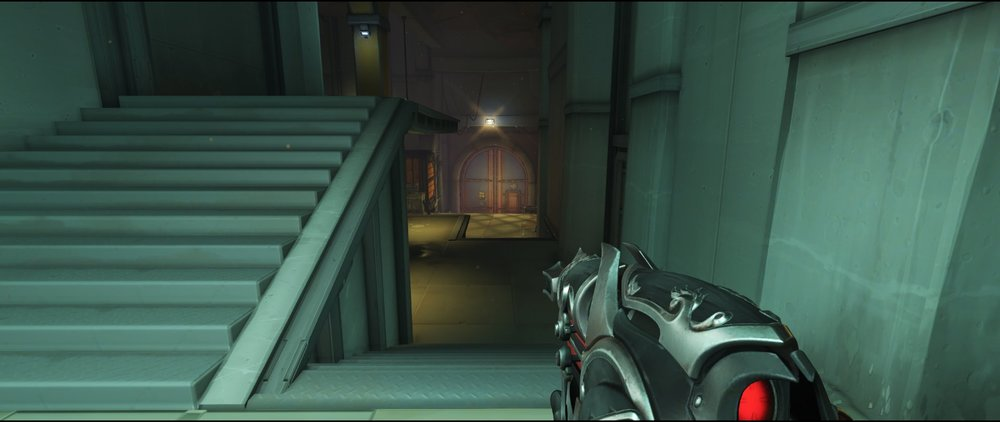 Storage stairs defense sniping spot Widowmaker Route 66.jpg
