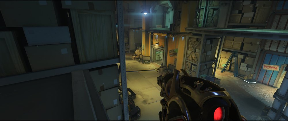 Small high ground view defense sniping spot Widowmaker Route 66.jpg
