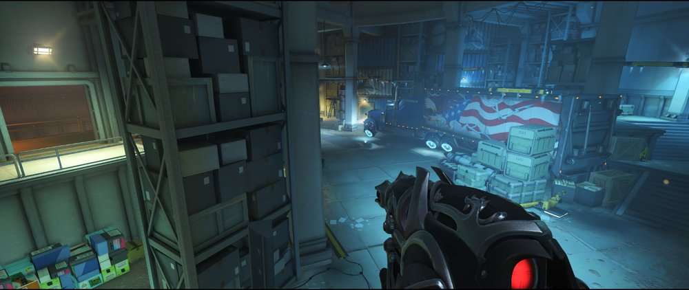 Spawn area high ground two defense sniping spot Widowmaker Route 66.jpg