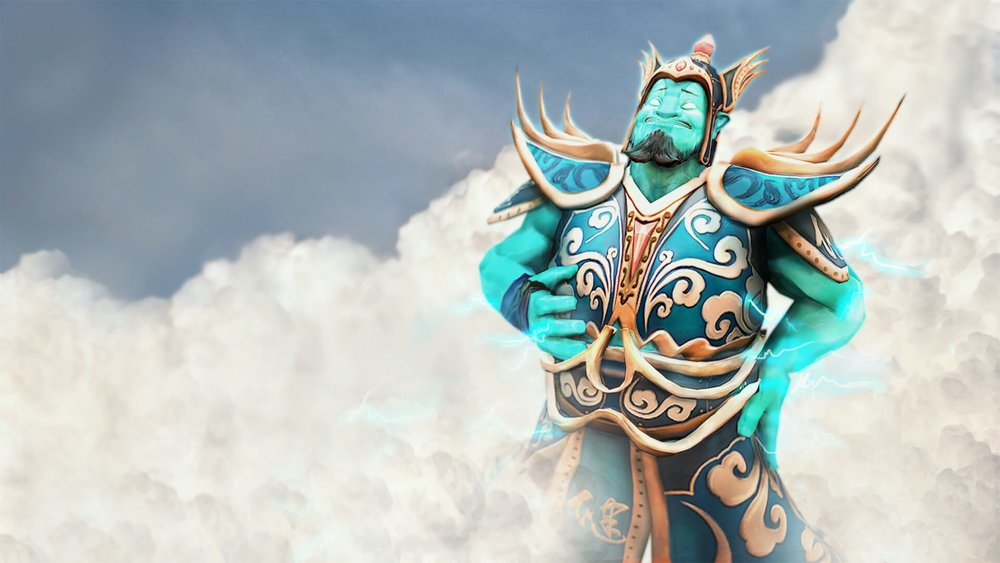 Heavenly General loading screen for Storm Spirit - Valve