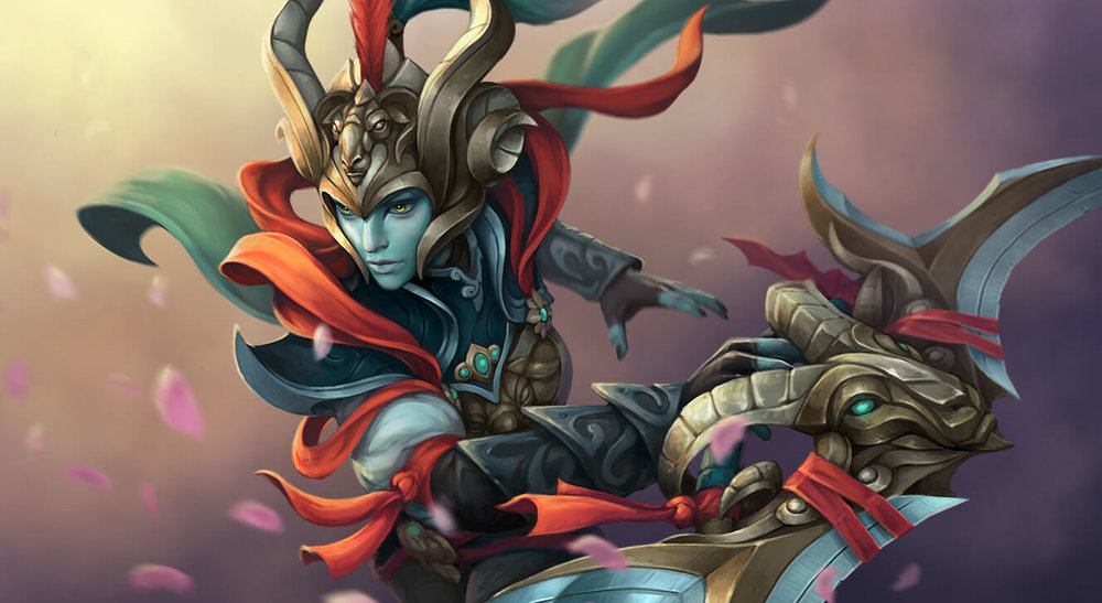 Loading Screen of the Sacrosanct for Phantom Assassin - Valve