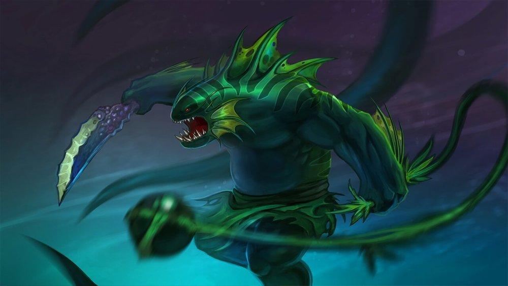 Deepweed Drowner loading screen for Tidehunter - Valve