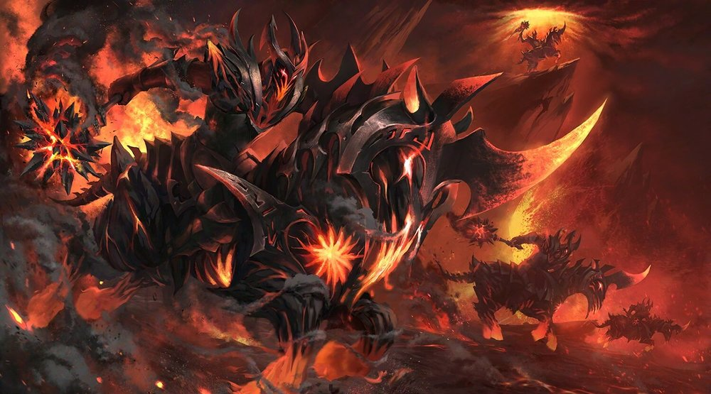 Burning Nightmare loading screen for Chaos Knight - Valve