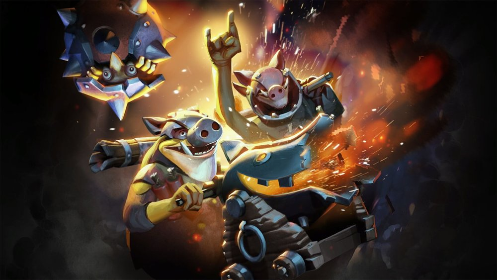 Swine Sappers loading screen for Techies - Valve