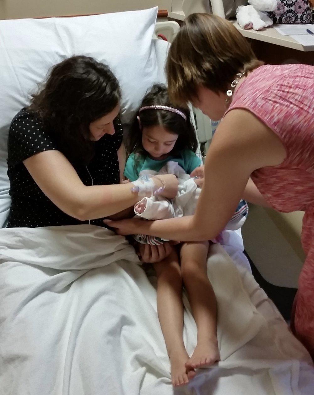 sibling meeting baby doulas