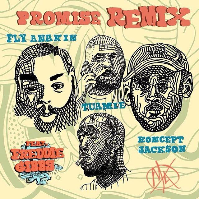 Fly Anakin, Koncept Jack$on, & TUAMIE - Promise [Remix] (Feat. @freddiegibbs) now available on Apple Music, Spotify, & TIDAL. #MUTANTSHIT
