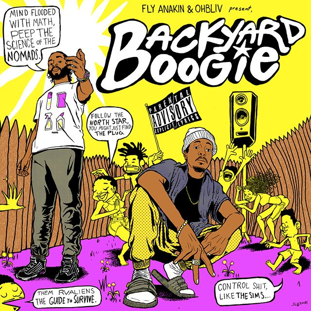#BackyardBoogie by @flyanakin & @ohbliv releasing this 4/20 artwork by: @bstfrnd__