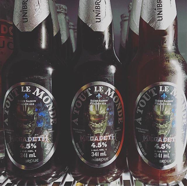 Super cool. #unibroue #saison #megadeth #beer #summer #atoutlemonde #yvr #vancouver #yaletown #vancouverbar @megadeth @unibroue