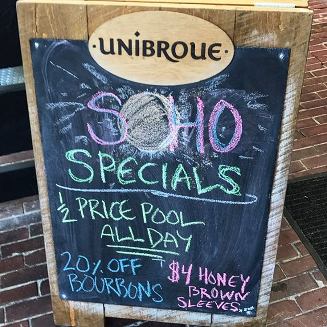 #monday #specials that #eclipse our competitors -- 1/2 price #pool ALL DAY! #yaletown #billiards #poolhall #yvr #vancouver #vancity #craftbeer #beer #booze #bourbon #summer #liquor #solareclipse