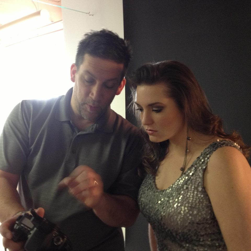 Pictured:  - Heather with photographer and long time friend, Todd Merrifield, previewing images for her Women's Lifestyle Magazine cover. Todd also shot the Chrysalis Project.