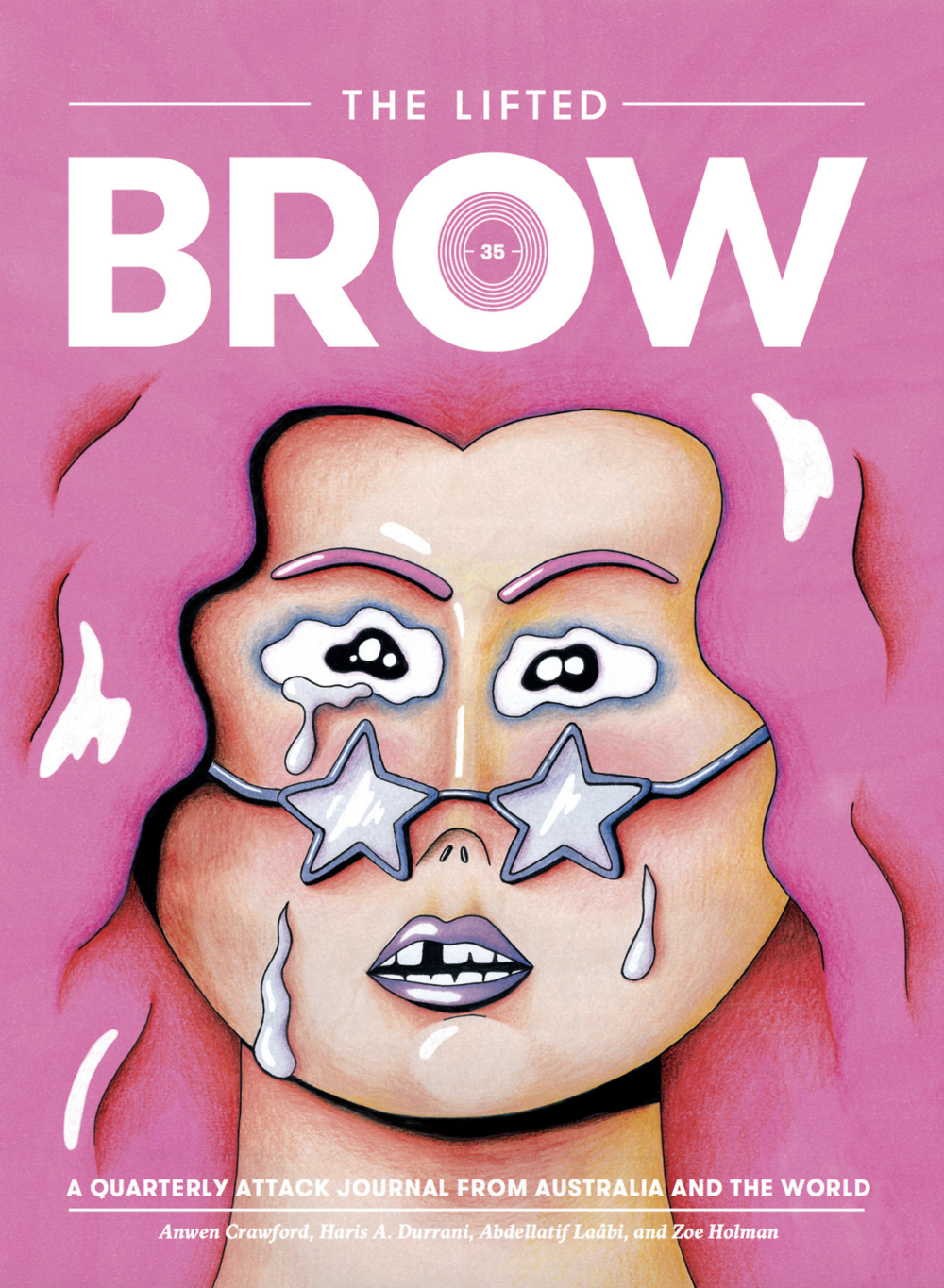 The Lifted Brow Publications  2017 Issue 35  Front Cover Design