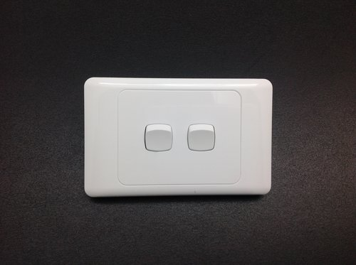 Wall light switch plate twin aloadofball