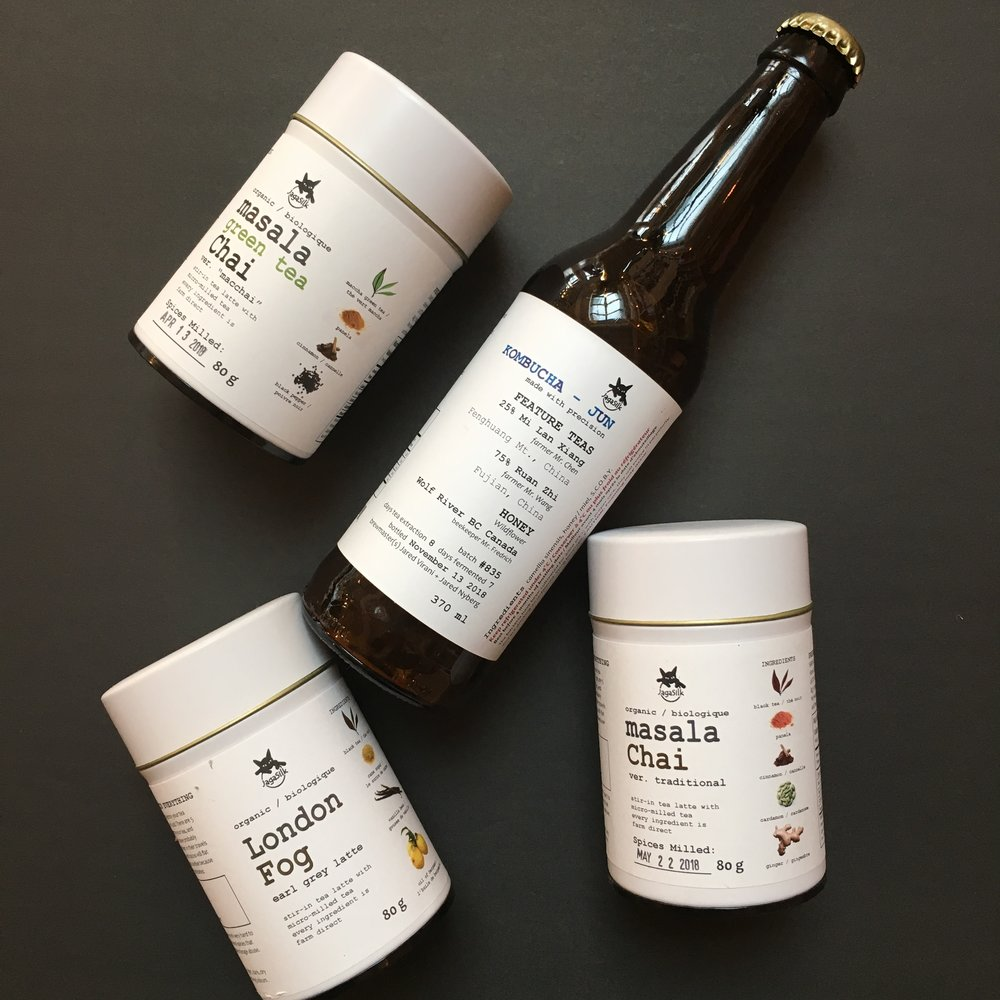 We are pleased to welcome Jagasilk teas to our shelves!  Jagasilk are specialty importers of maccha green tea, seasonal teas, tea blends and single origin tea kombucha. Based in Victoria, BC, Canada, they believe in beauty, balance, and ethical business.