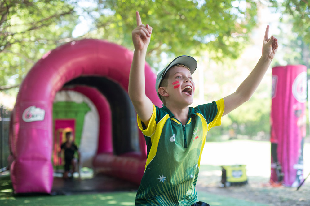 T20 INTL: Come early and enjoythe free family fun! - From 5pm in St Leonard's Park, next to North Sydney Oval down Fig Tree Lane, there will be lots of fun for the kids, including a Sydney Sixers slide, cricket net with a speed gun, Play Cricket showbags and a chance to have a bat and bowl.