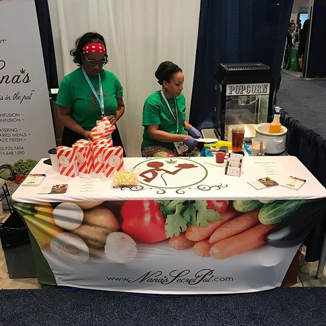 Day number two at the #cwcbexpo in the heart of #newyork - We're busy popping a fresh batch of our Signature Potcorn, so come on down to booth 610 and try some! Don't forget to take a picture with Nana and post them!! @cwcbexpo #cannabis #cbd #nanassecret