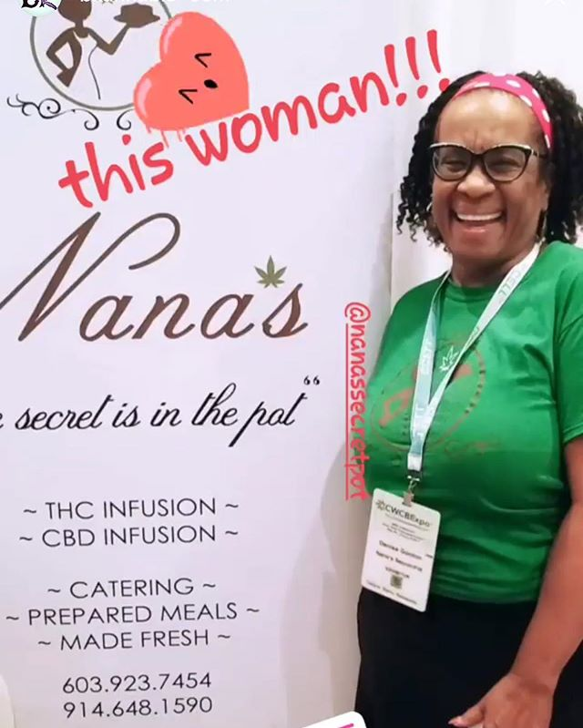 Nana has never been happier! Thanks to @bkannabis for the great shot ❤️😍 So many have already visited us at booth 610, so get on down here and try our fresh Signature Potcorn! #cwcbexpo #cannabis #cbd