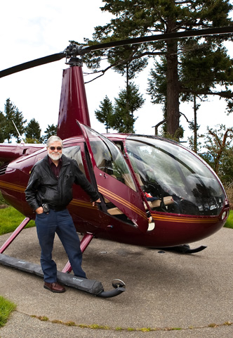 Don with his helicopter