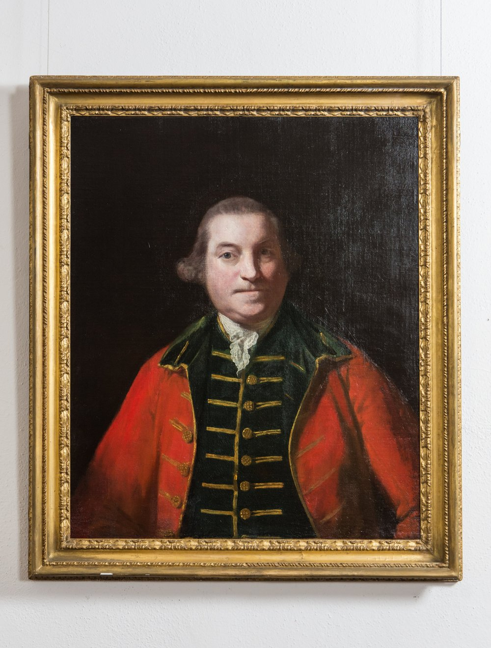 Portrait of a Military Officer in a Red Coat