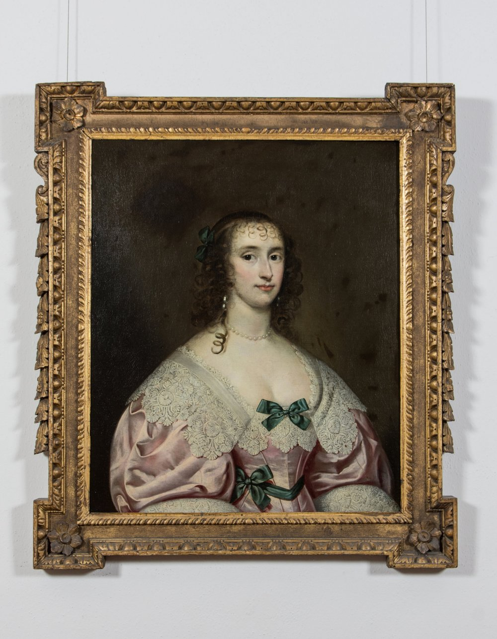 Portrait of a Nobleman, wearing a pink dress, with lace color