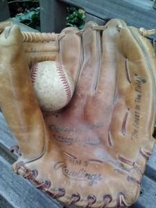 My glove lies in wait.