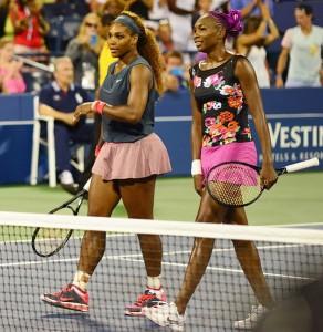 Serena and Venus, pals and champs.