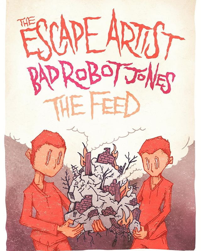 The Robots have been on hiatus, but return on Saturday, June 8th with @theescapeartistdc and @thefeeddc to @villainandsaint to make noises and screams. Check out this dope flyer by @scottsiskind #wewereonabreak #noisesandscreams #dopeflyers #villainandsaint #dcrocks #bethesdamd #therscapesrtist #thefeed #badrobotjones