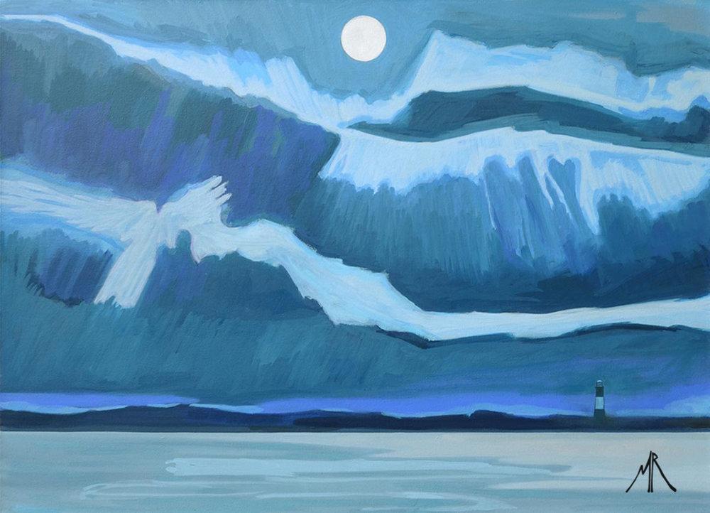 Angel Clouds Over Spurn Point Lightouse.jpg