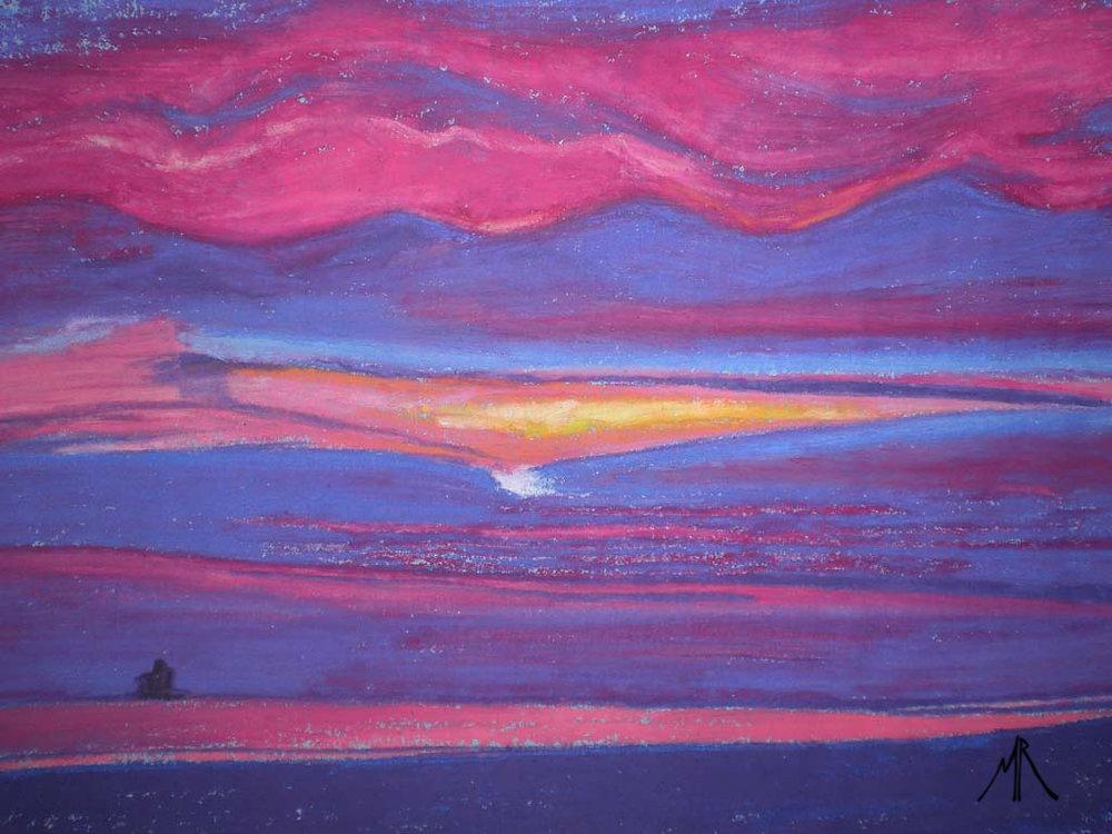 Sketch For Elvis Lives Haile Sands Fort at Sunrise.jpg