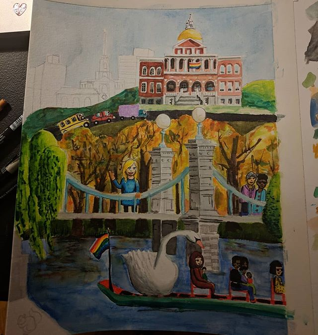 Working on the commons and State House page 😘