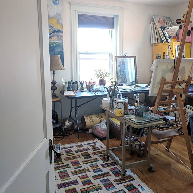 My very cluttered home studio. 🖌️🎨🖌️🎨