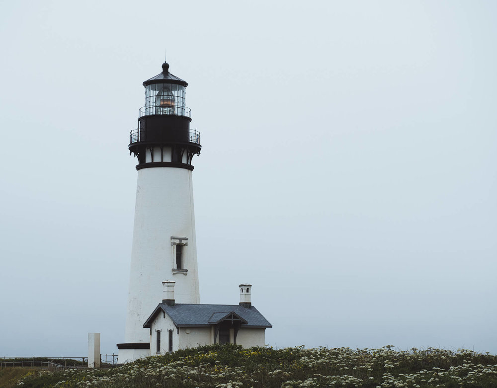 Yaquina Head Outstanding Natural Area lighthouse.
