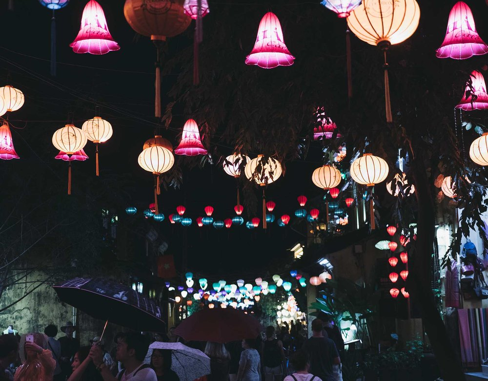 Walking around the historic Old Town in Hoi An.