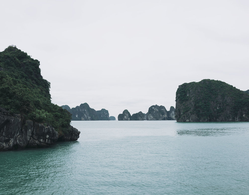 A rare, unobstructed view of Halong Bay.