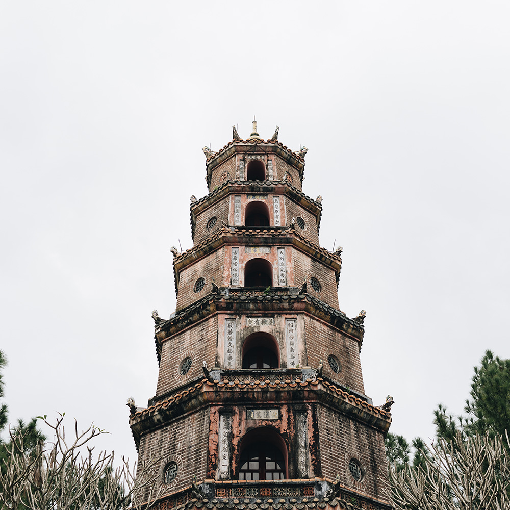 Thien Mu Pagoda - Pagoda of the Celestial Lady in Hue, Vietnam
