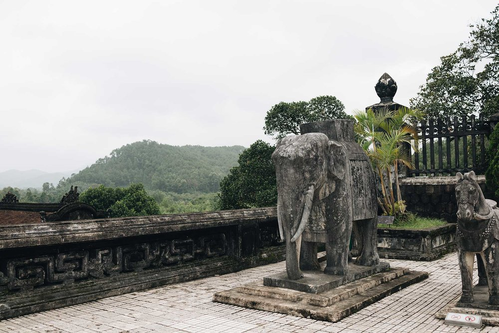 Tomb of Khai Dinh in Hue, Vietnam